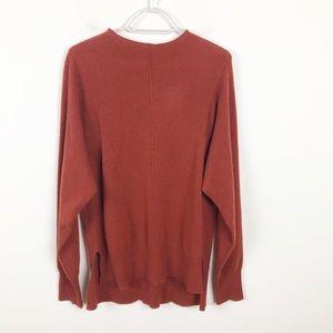 In Cashmere Chestnut Mock-Neck Cashmere Sweater